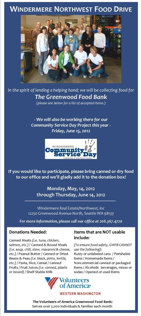 Food Drive Benefiting the Greenwood Food Bank