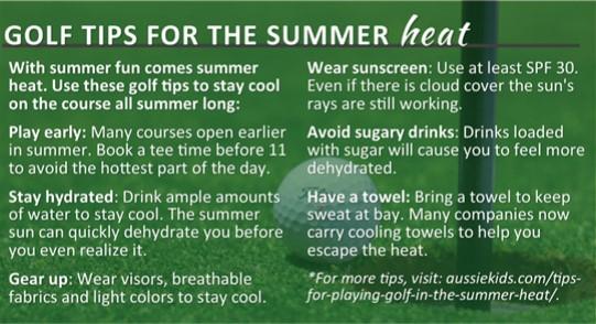 Golf Tips for Summer Heat