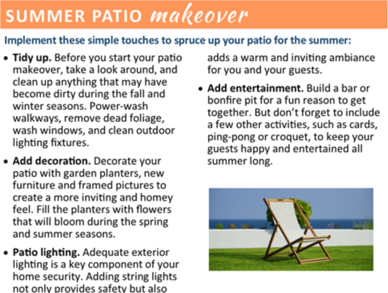 Summer Patio Makeover