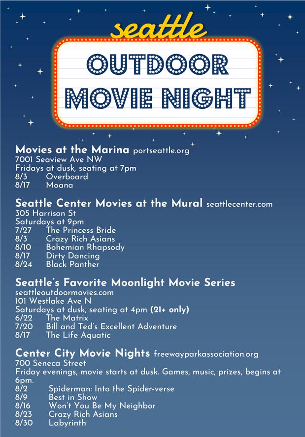 Seattle Outdoor Cinemas
